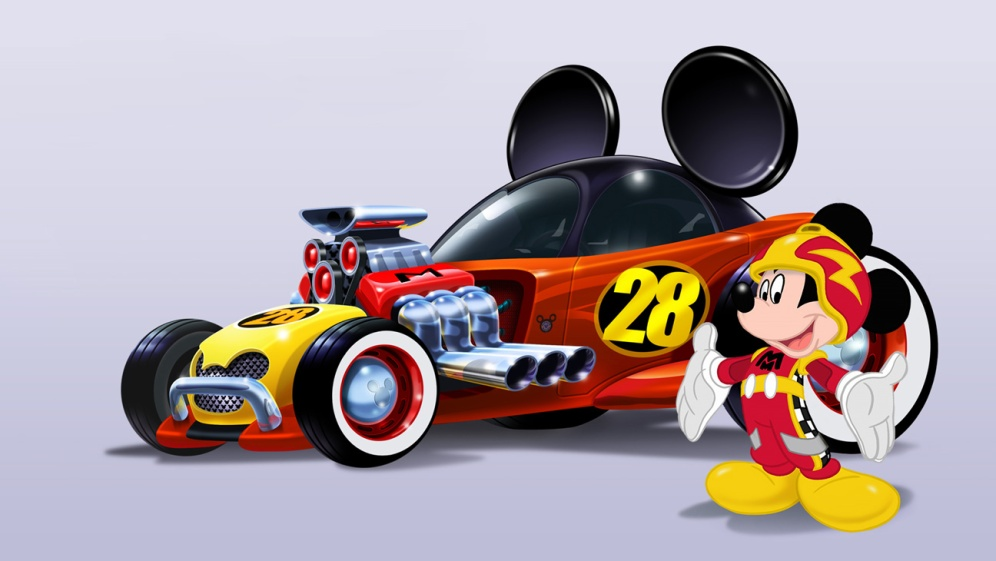 "MICKEY AND THE ROADSTER RACERS - ""Mickey and the Roadster Racers,"" a madcap car racing adventure for preschoolers featuring Mickey Mouse and his pals: Minnie, Pluto, Goofy, Daisy and Donald, takes the Sensational Six and their uniquely personalized vehicles on humorous high-spirited races around the globe plus hometown capers in Hot Dog Hills. (Disney Junior) MICKEY MOUSE"